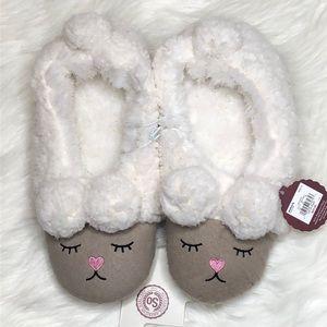Ewe Wish So Cute Fuzzy Sheep Slippers